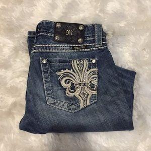 Miss Me Boots Cut Jeans Size 27 READ